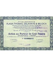 Ets Flaba-Thomas, Delahaye & Belgica