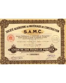 ''S.A.M.C '' Sté Algérienne de Matériaux  de Construction, Anciens Ets A. Gautier de Mostaganem