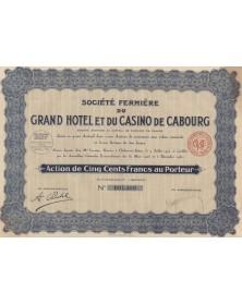 Sté Fermière du Grand Hôtel et du Casino de Cabourg