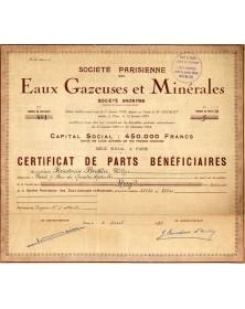 Sté Parisienne des Eaux Gazeuses et Minérales