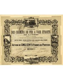 Cie des Chemins de Fer à Voie Etroite de l'Ouest, Réseau de Saumur