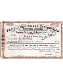 Paringa Mining And Exploration Company Ltd