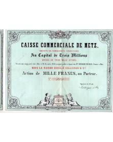 Caisse Commerciale de METZ - sous la Raison sociale Collignon & Cie