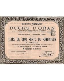 Sté Anonyme des Docks d'Oran