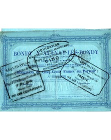Cie du Chemin de Fer de Bondy à Aulnay-Lès-Bondy