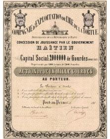 Cie d'Exploitation de l'Ile de la Tortue Dépendance de la Rép. d'Haïti