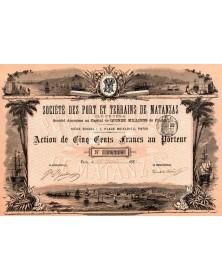 Sté des Ports et Terrains de Matanzas (Cuba)