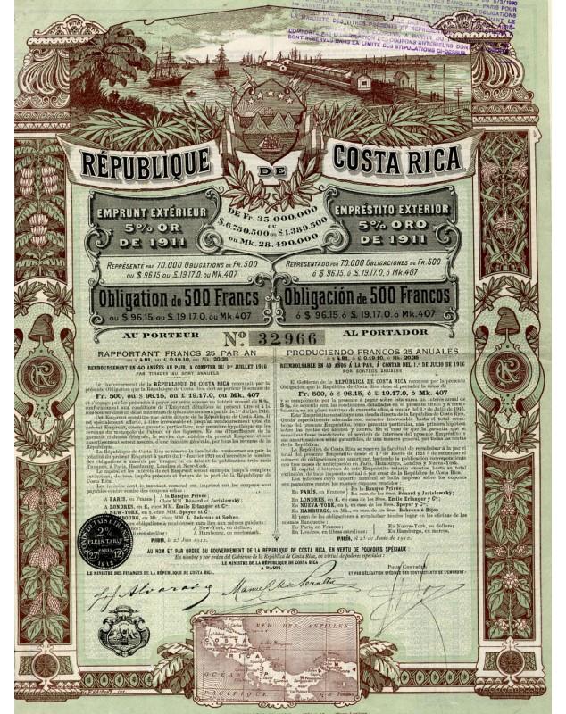 République de Costa Rica, Emprunt Extérieur Or 5%