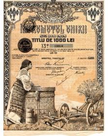 Imprumutul Unirii 5% Din 1919