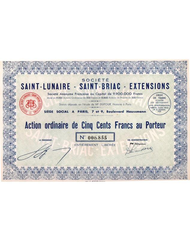 Sté Saint-Lunaire - Saint-Briac - Extensions