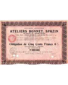 Ateliers Bonnet, Spazin