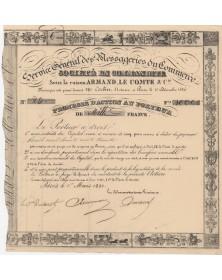 """Service Général des Messageries du Commerce - Armand Le Compte & Cie-"""""""""""