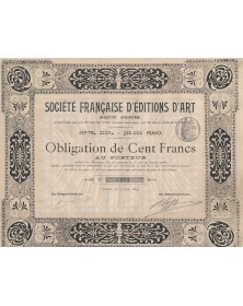 Sté Française d'Editions d'Art