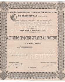 Plâtrière & Fabrique d'Agglomérés de Plâtre de Genevreuille