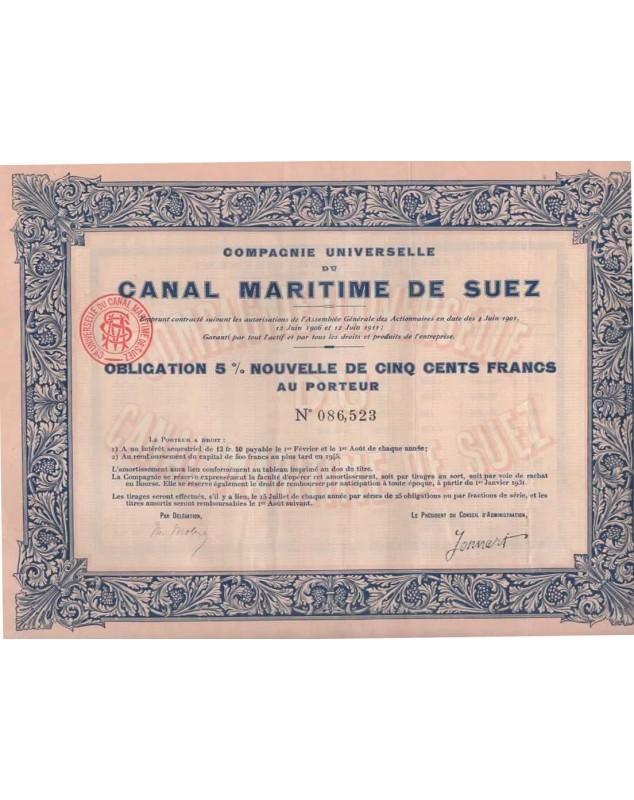 Cie Iniverselle du Canal Maritime de Suez