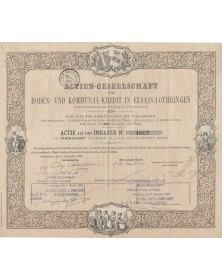 A.G. für Boden-Und Kommunal-Kredit in Elsass-Lothrigen