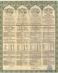 Bons Représentatifs des Annuités Arriérées de la Dette Publique Ottomane