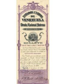 Estados Unidos de Venezuela - Deuda Nacional Interna. Serie 6a 1906