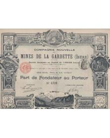 Cie Nouvelle des Mines de la Gardette (Isère)