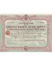 Cie des Drogueries Africaines et Manufacture de Matières colorantes BELGA réunies
