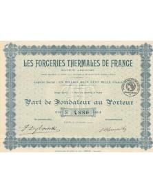 Les Forceries Thermales de France