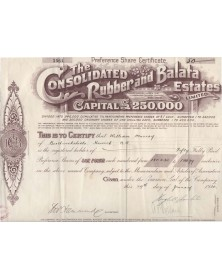 The Consolidated Rubber and Balata Estates Ltd