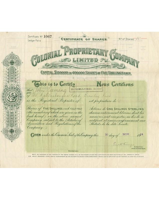 Colonial Proprietary Company Ltd