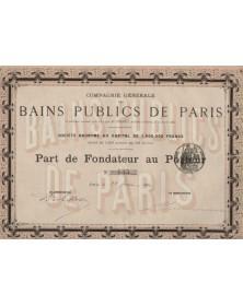 Cie Générale des Bains Publics de Paris