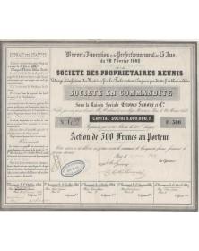 Sté des Propriétaires Réunis. Vidanges, Désinfection, Fabrication d'Engrais, Groves Savoye et Cie