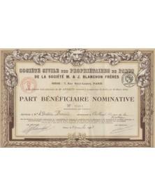 Sté Civile des Propriétaires de Parts de la Sté M. & J. Blanchon Frères