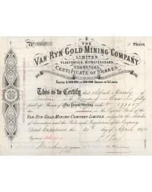 The Van Ryn Gold Mining Company Ltd