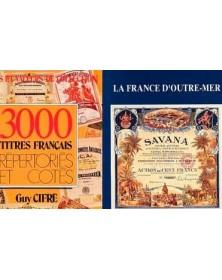 Lot of 2 books : 3000 Titres Français répertoriés, La France d'Outre-Mer