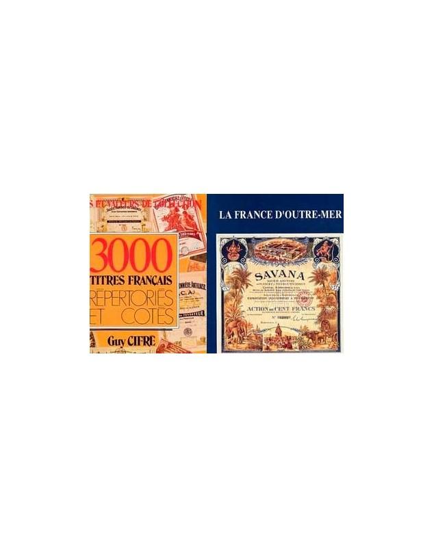 Lot de 2 livres : 3000 Titres Français répertoriésLa France d'Outre-Mer