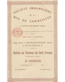 Sté Immobilière de la Rue de Cormeilles