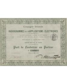 Cie Orientale des Radiogrammes & d'Applications Electriques