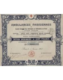 Ambulances Parisiennes et Sté Générale des Infirmiers de Paris