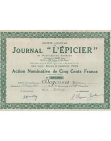 Sté du journal L'EPICIER