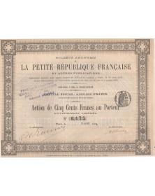 Sté de La Petite République Française et Autres Publications