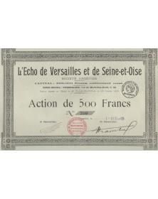 L'Echo de Versailles et de Seine-et-Oise (Newspaper)