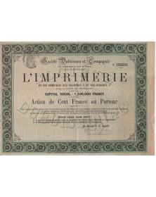 Sté Dubuisson et Cie pour l'exploitation de l'Imprimerie et des immeubles Rue Coq-Héron, et rue d'Argout