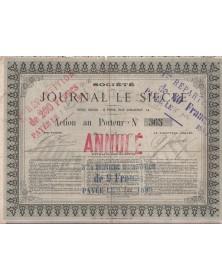 Sté du Journal Le Siècle  - Newspaper