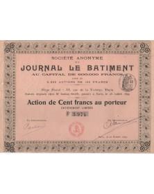 Sté du Journal Le Bâtiment