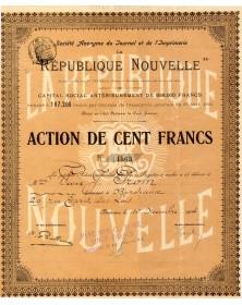 Sté du Journal et de l'Imprimerie La République Nouvelle