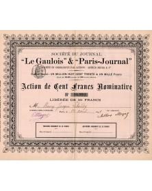 Sté du Journal Le Gaulois & Paris-Journal