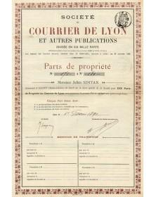 Sté du Courrier de Lyon et Autres Publications
