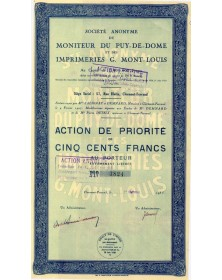 Sté du Moniteur du Puy-De-Dôme et des Imprimeries G. Mont-Louis