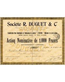 Sté R. Duguet & Cie  - Journal l'Avenir