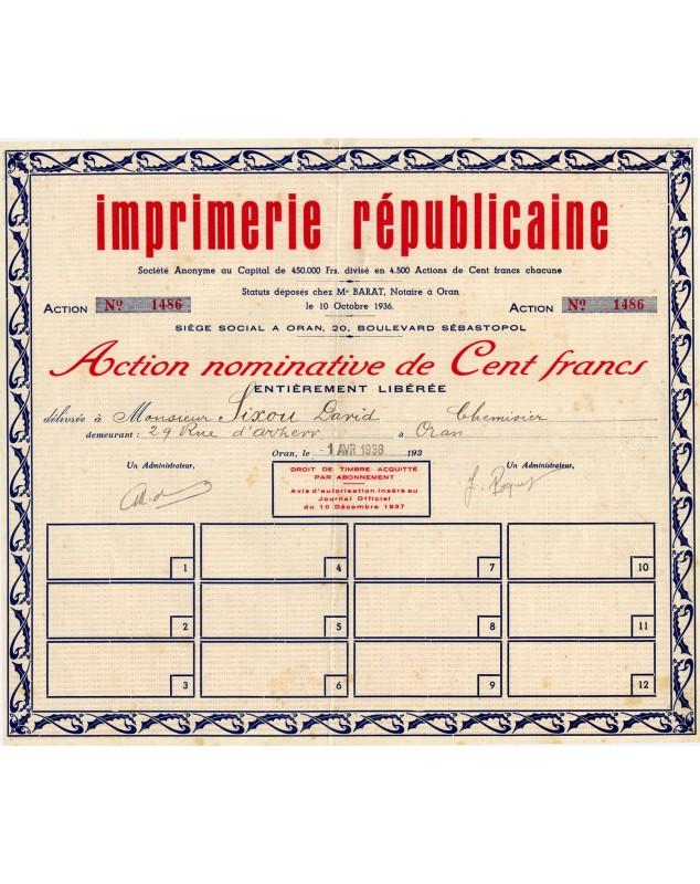 Imprimerie  Républicaine