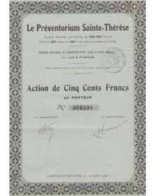 Le Préventorium Sainte-Thérèse, Ste-Foy-les-Rhône