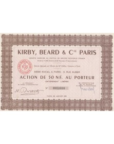 Kirby, Beard & Cie Paris